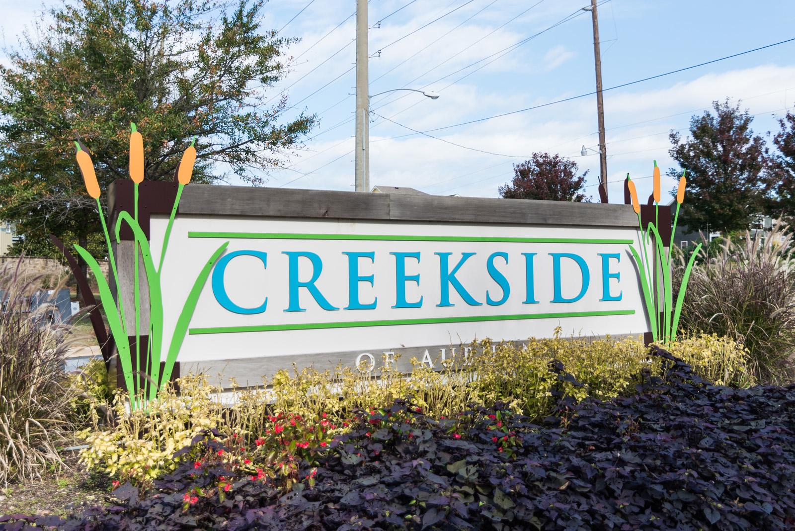 Creekside Entrance